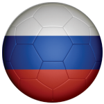 Russia Football Flag 25mm Button Badge